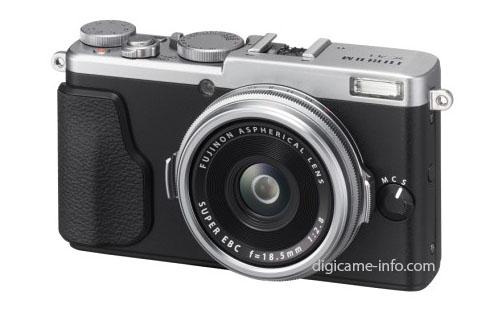 Fuji X70 camera silver
