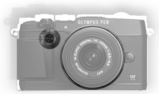 Olympus-PEN-F-vs.-E-P5-camera-size-comparison