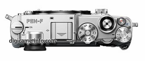 silver Olympus PEN-F camera 3