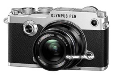 silver Olympus PEN-F camera