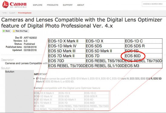 Canon-EOS-80D-DSLR camera-leak on canon website