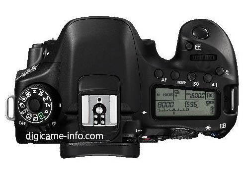 Canon EOS 80D DSLR camera top