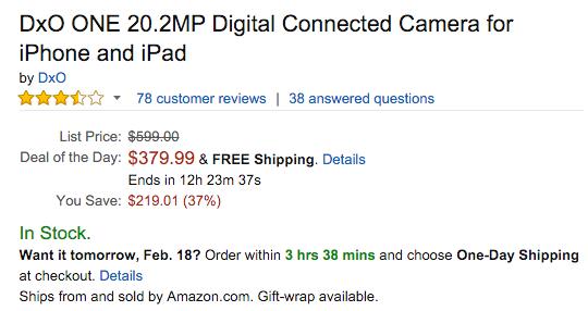 DxO ONE camera price drop