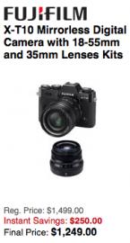 Fuji X-T10 camera deal