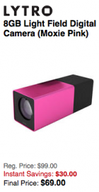 Lytro camera sale