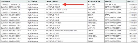 New-Olympus-camera-registered