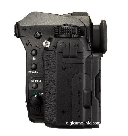 Pentax K-1 full frame DSLR camera side view