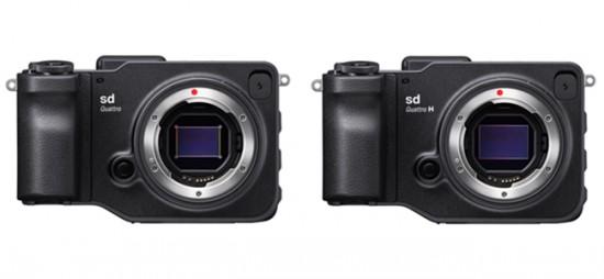 Sigma sd Quattro and Sigma sd Quattro H mirrorless cameras