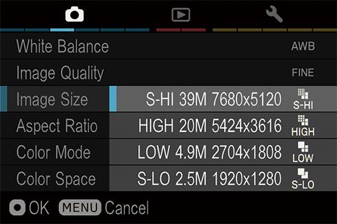 Sigma sd Quattro mirrorless camera menu