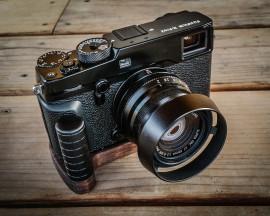 J.B. Camera Designs wood grip for Fuji X-Pro2