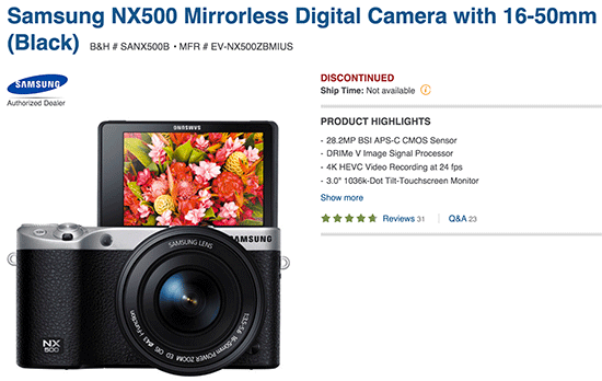 Samsung-NX500-camera-discontinued