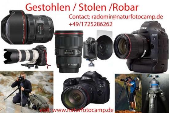 Canon test equipment stolen in Spain