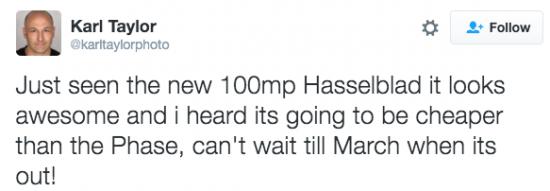 Hasselblad H6D medium format camera rumors