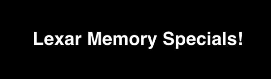Lexar Memory Cards specials at Adorama