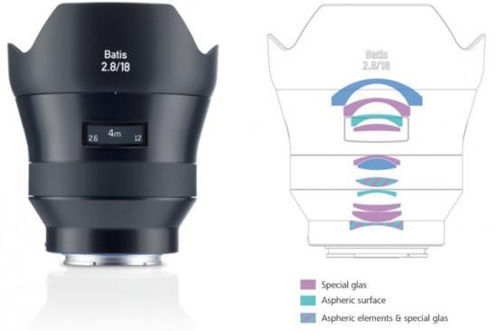 Zeiss-Batis-2.818-super-wide-angle-autofocus-lens-design