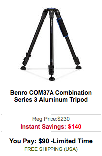 Benro COM37A Combination Series 3 Aluminum Tripod sale
