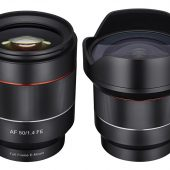 Samyang 4mm f:2.8 50mm f:1.4 AF lenses for Sony E mount