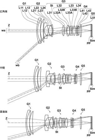 Fuji Fujinon XF 16-55mm f:2.8 OIS lens patent