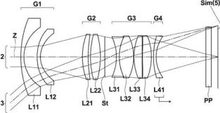 Fuji XF Fujinon 16mm f:1.8 lens patent