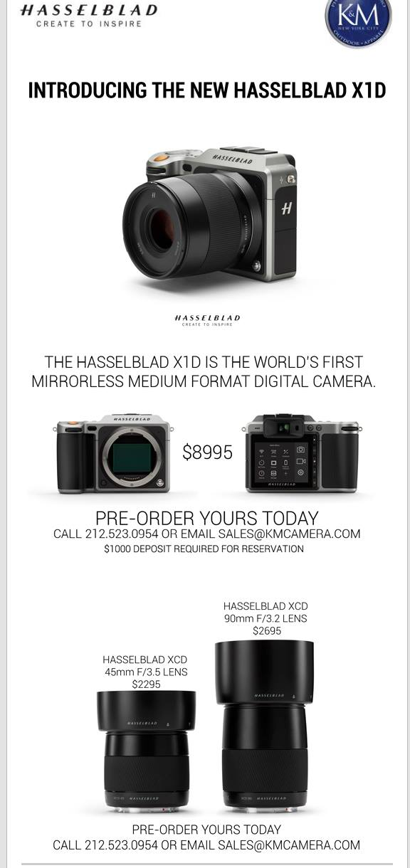 Hasselblad X1d Mirrorless Camera Leaked Hypebeast