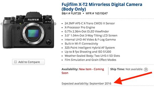 Fuji-X-T2-camera-shipping-date