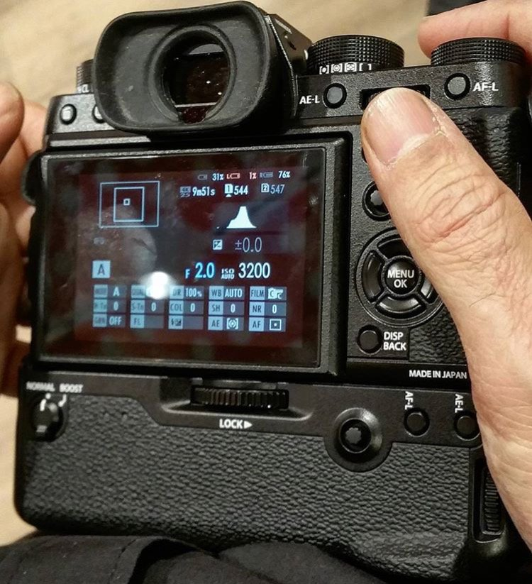 Fuji X-T2 with battery grip
