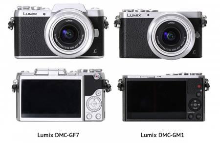 Panasonic GF7 GM1 cameras