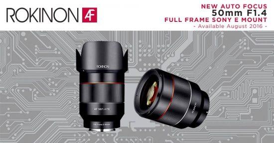 Rokinon autofocus (AF) AF 50mm f:1.4 full frame lens for Sony E-mount