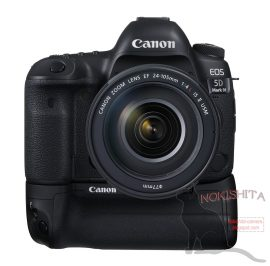 Canon 5D Mark IV DSLR camera with battery grip
