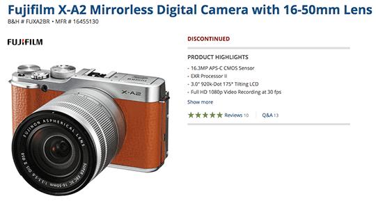 Fuji-X-A2-camera-discontinued