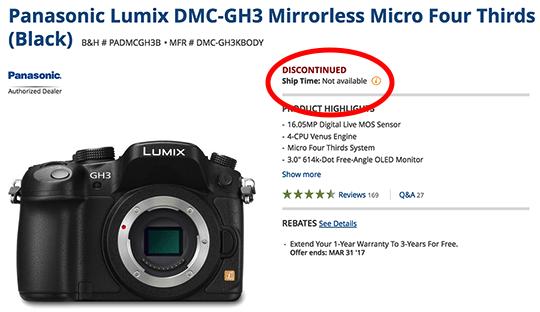 Panasonic-GH3-camera-discontinued