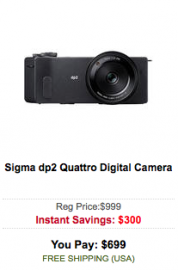Sigma dp2 Quattro camera sale