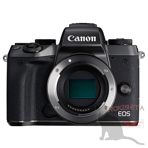 This (again) is the Canon EOS M5 mirrorless camera
