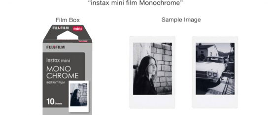 Fuji Instax mini film monochrome