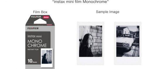 Fuji Instax mini film monochrome