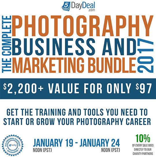 The all-new 2017 5DayDeal complete photography bundle is back