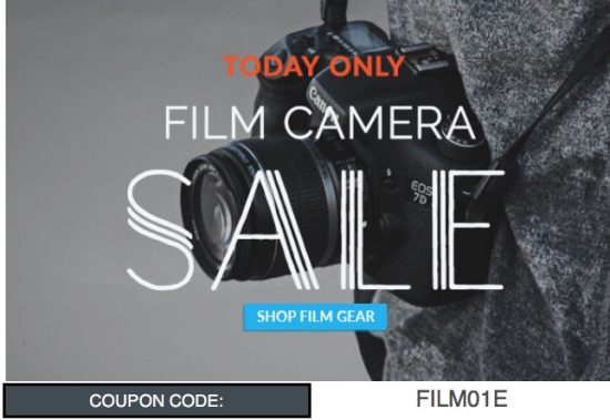 Today only: up to 20% off on film cameras, lenses and accessories at KEH