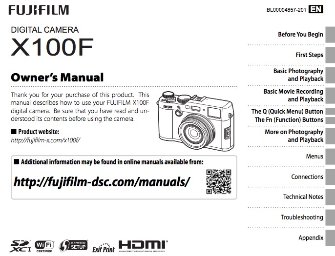 fuji x100f camera owner s manual now available photo rumors rh photorumors com Operators Manual Car Owners Manual