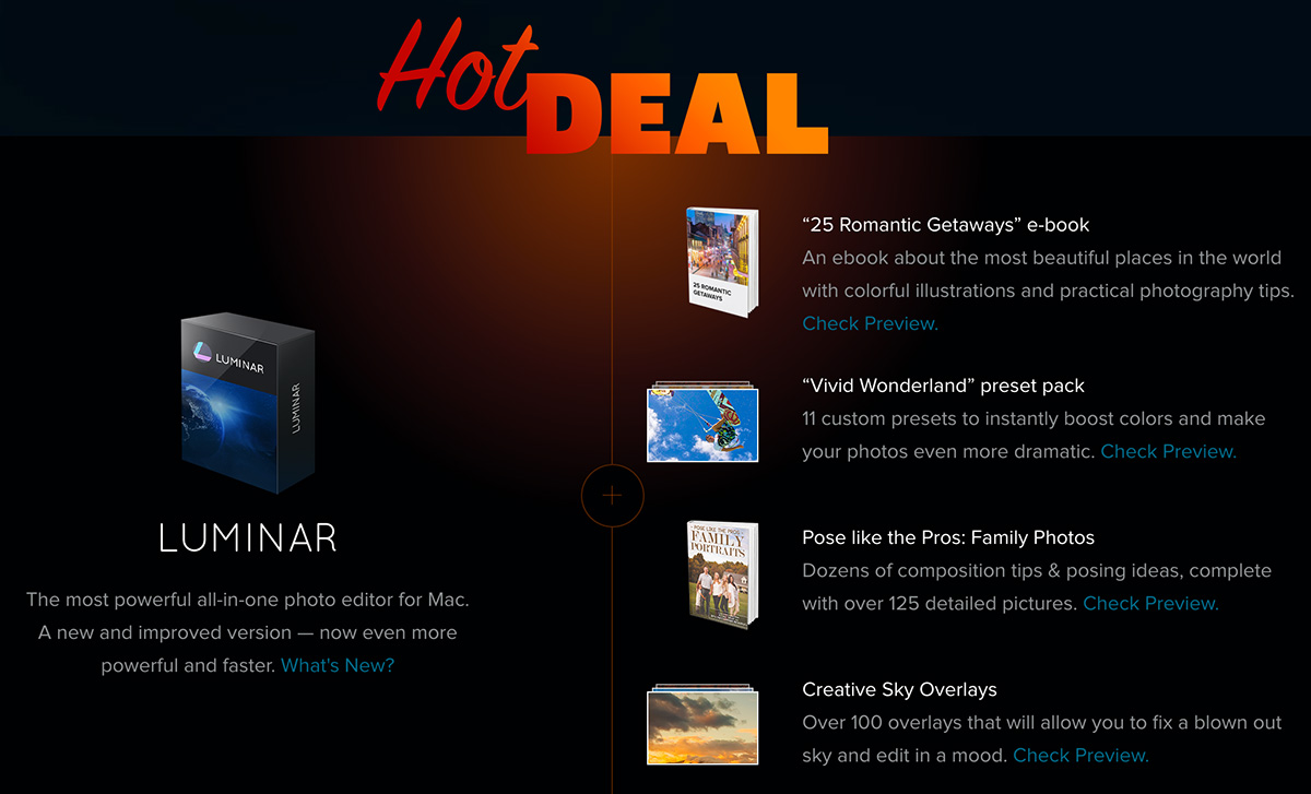 New deal on macphun luminar software coupon code included photo here is what you get with this deal fandeluxe Gallery
