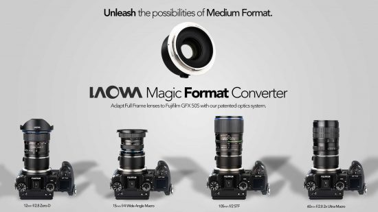 Venus Optics announced the world's first GFX adapter for enlarging image circle of full frame lenses
