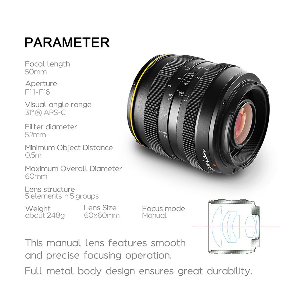 Another New Cheap Chinese Lens Kamlan Sainsonic 50mm F 1