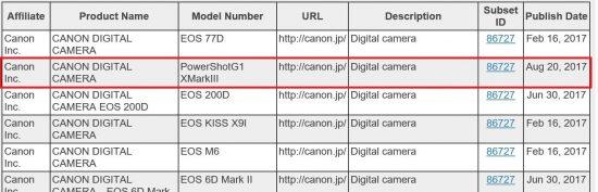 Canon PowerShot G1 X Mark III camera to be announced soon