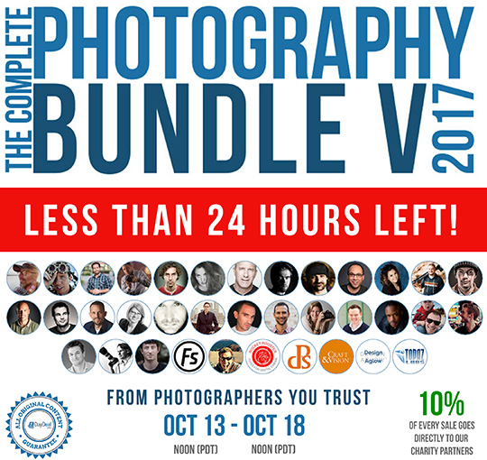 Reminder: the 2017 Complete Photography Bundle sale will end in less than 24 hours
