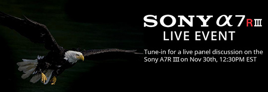 Sony A7R III camera live steam panel and additional coverage