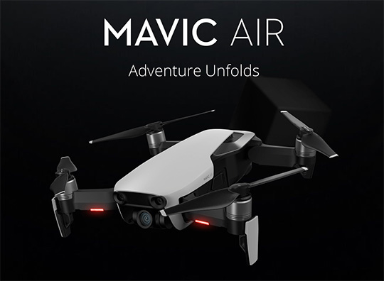 DJI Mavic Air compact foldable drone announced