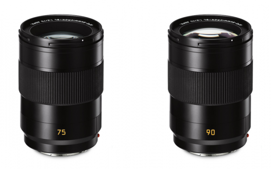 Leica releases two more SL mirrorless lenses (75 f/2 and 90 f/2), announce a new SL prime (50mm f/2)