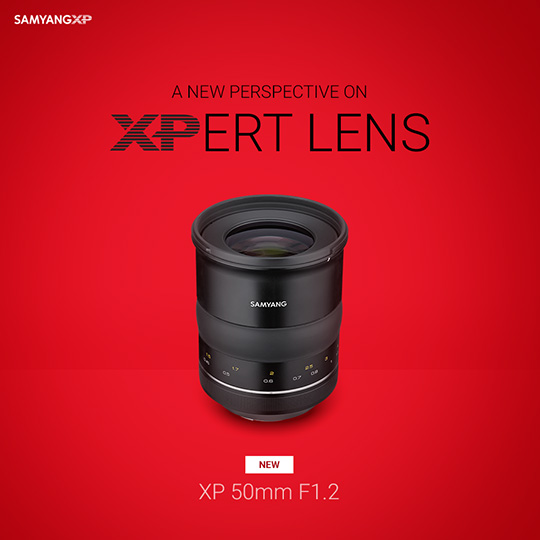 Samyang XP 50mm f/1.2 lens for Canon EF mount announced