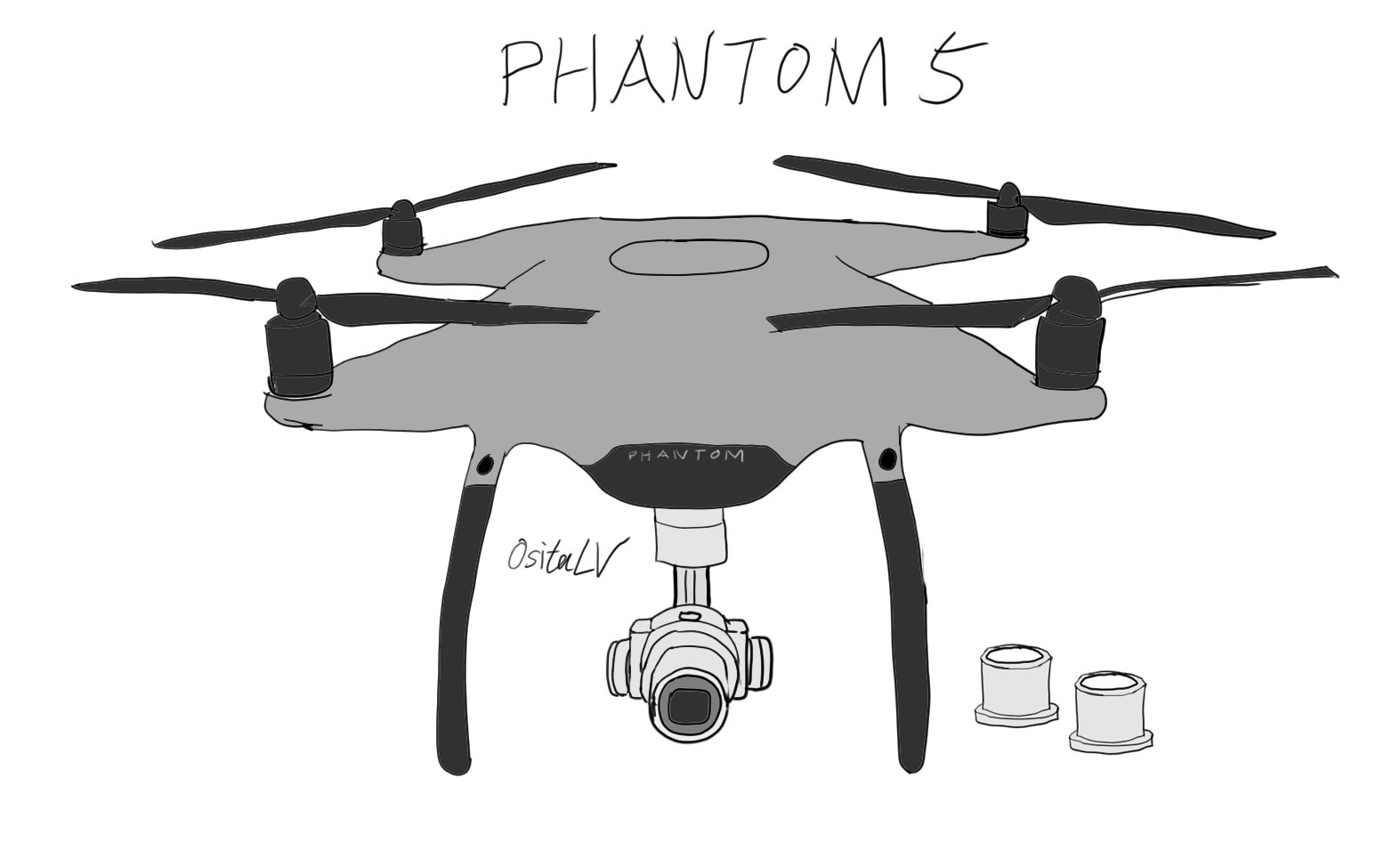 More Leaked Pictures Of The Rumored DJI Phantom 5 Drone With Interchangeable Lens Camera
