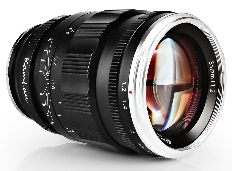 New Sainsonic Kamlan 55mm F 1 2 And 8mm F 3 Lenses