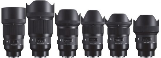 Pricing announced for the new Sigma DG HSM Art full frame mirrorless lenses for Sony E-mount